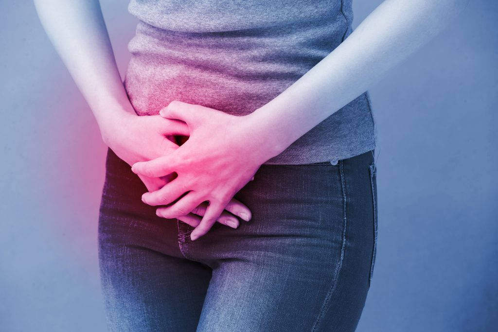 woman with bladder urgency